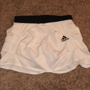 White adidas tennis skirt